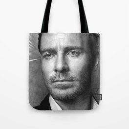 Michael Fassbender - Portrait Tote Bag