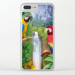 Macaw Tropical Parrots Clear iPhone Case