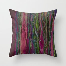 Spellbinding Impasse (Bioluminescent Field) Throw Pillow