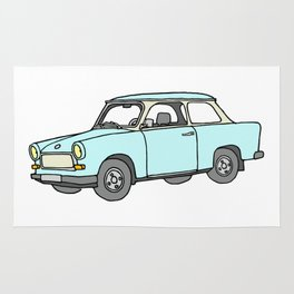 Trabant or Trabi. Car of GDR Rug