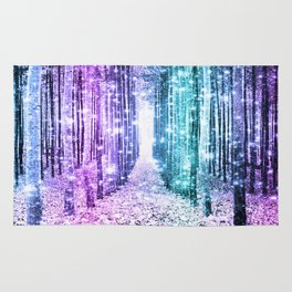 Magical Forest Lavender Aqua Teal Ombre Rug