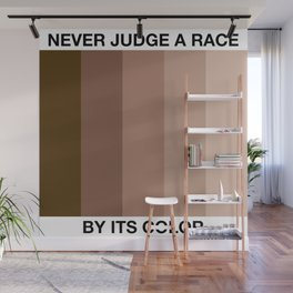 Never Judge A Race By Its Color Wall Mural