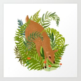 DEF in the Forest Art Print