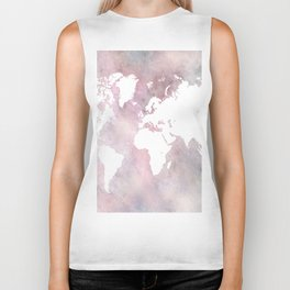 Design 66 world map Biker Tank