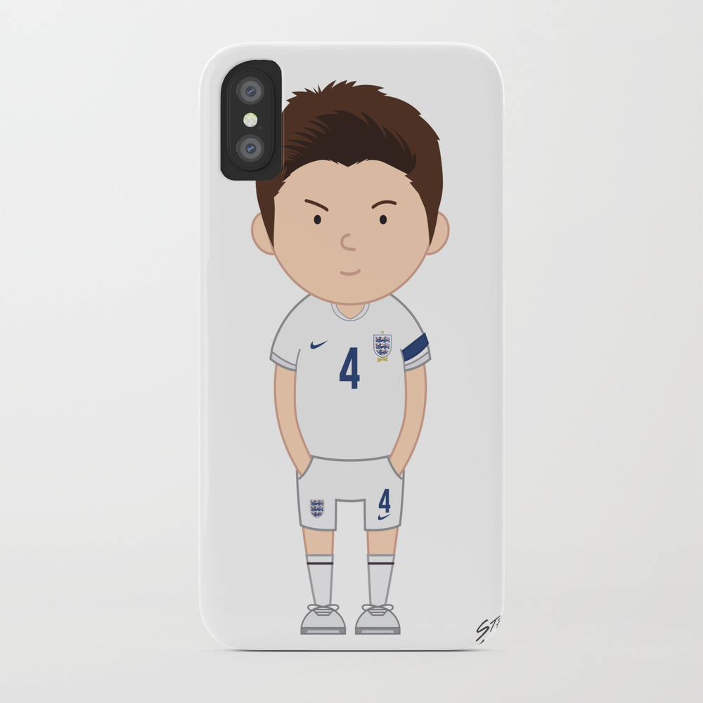 Steven Gerrard - England - World Cup 2014 Phone Case by Toonsoccer PCS9041461