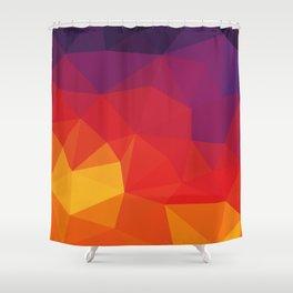 BLUE/GREEN POLYGON Shower Curtain
