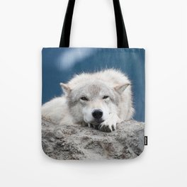 Sleepy Wolf Tote Bag