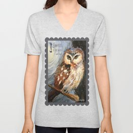 I Love You To The Moon And Back Owl Unisex V-Neck