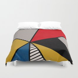 Primary Colors and Stripes Duvet Cover