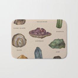 Gems and Minerals Bath Mat
