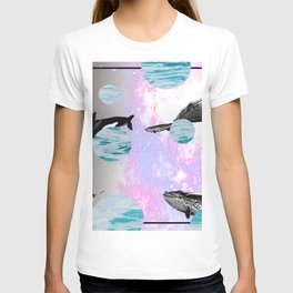 whales in space T-shirt