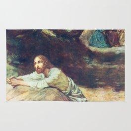 Jesus at Gethsemane Rug