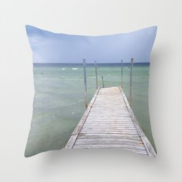 Bridge to the sea | Landscape photography Throw Pillow