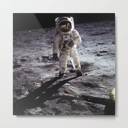 Apollo 11 - Buzz Aldrin On The Moon Metal Print