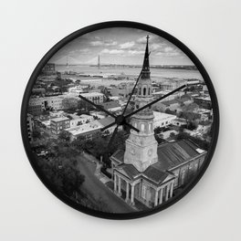 St Philips Black and White Wall Clock