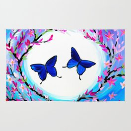 Butterfly Print Rug