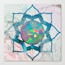 Psychedelic Crystal Lotus 2 Canvas Print