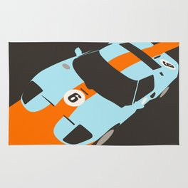 Orange Notch - Ford GT40 Race Car Rug