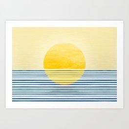 Minimal Summer Sunset Art Print