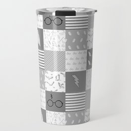 Magic Private School cheater quilt patchwork wizarding witches and wizards Travel Mug