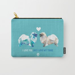 Polygon Tibetan Spaniel Love in Turquoise Carry-All Pouch