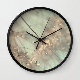 dandelion mint Wall Clock