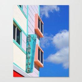 Miami Art Deco Starlite Hotel Canvas Print