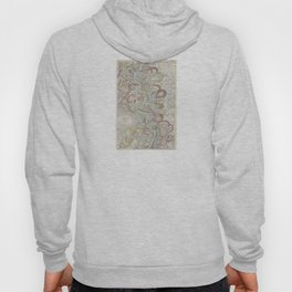 Beautiful Map of the Lower Mississippi River Hoody