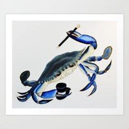 Dancin Crabbie Art Print