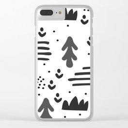 Sandinavian absract art Clear iPhone Case