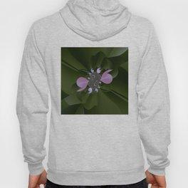A plastic shiny bloom of a fractal plant Hoody