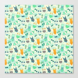 Swimsuits Pattern Canvas Print