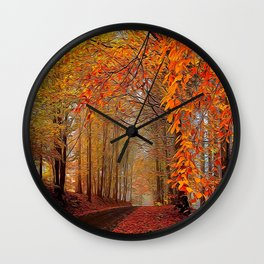 Autumn Parade Wall Clock