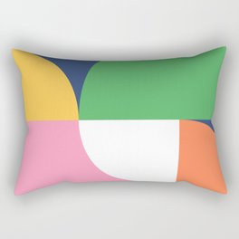 Abstract Geometric 15 Rectangular Pillow