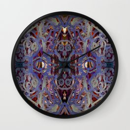 Skulls Purple Rouge Wall Clock