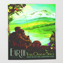 Vintage poster - Earth Throw Blanket