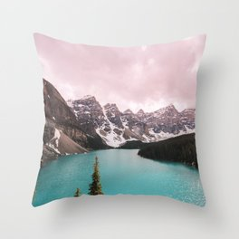 Moraine Lake Banff National Park Throw Pillow
