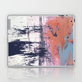 Leap of Faith: colorful abstract piece in blues, pinks, and gold Laptop & iPad Skin