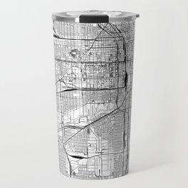 Chicago White Map Travel Mug