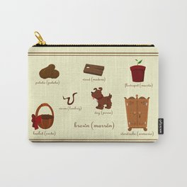 Colors: brown (Los colores: marrón) Carry-All Pouch