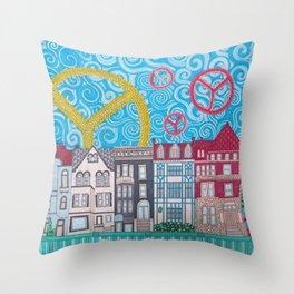 peace on dupont circle Throw Pillow