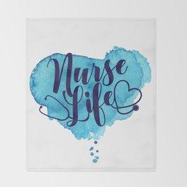 Nurse Life Throw Blanket