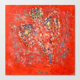 Psychedelic bird 02 Canvas Print