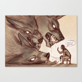 Taking the Dog for a Walk Canvas Print