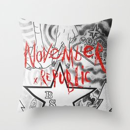November Repuplic - Chapter : Red LA Throw Pillow