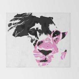 Lion Heart Africa Pink Throw Blanket
