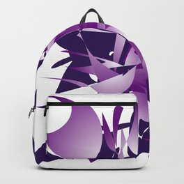 Violet abstraction Backpack