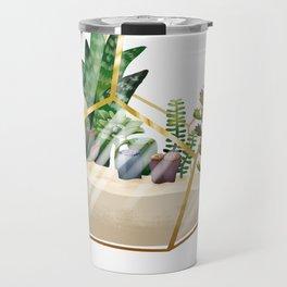 Terrarium with succulents Travel Mug