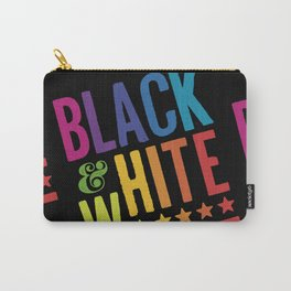 Colorful Black and White Carry-All Pouch