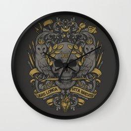 ARS LONGA VITA BREVIS Wall Clock